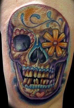 Sugar skull tattoo1