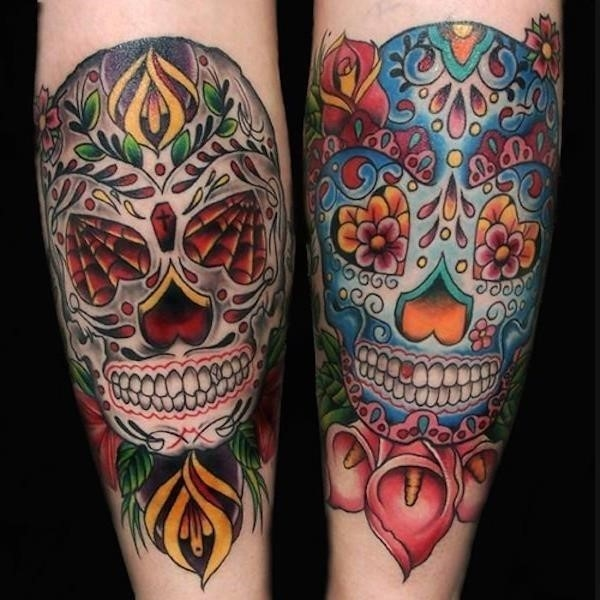Sugar skull tattoos 111