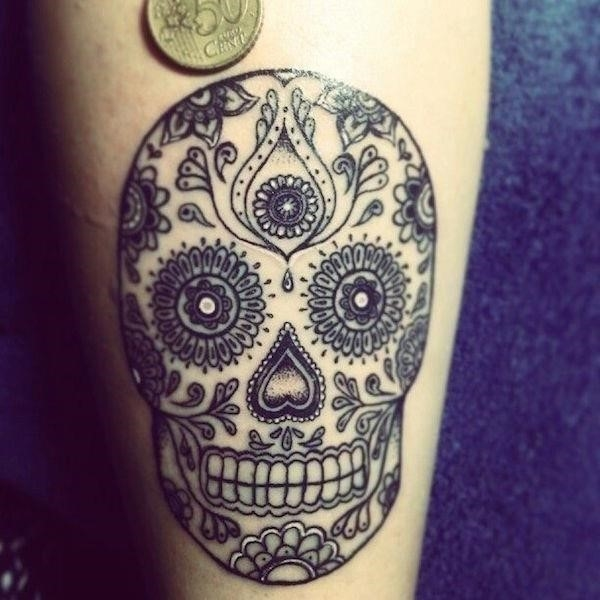 Sugar skull tattoos 21