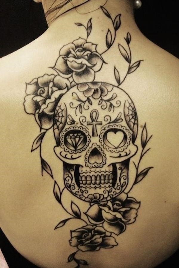 Sugar skull tattoos 3