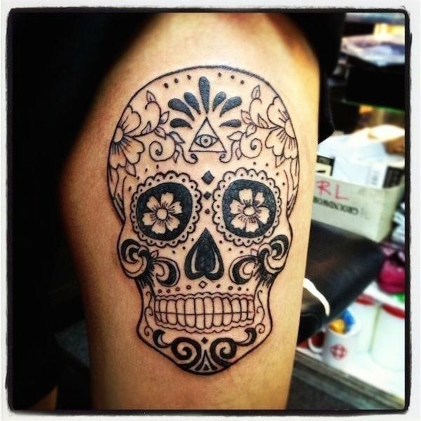 Sugar skull tattoos 51