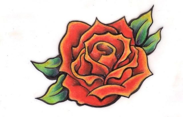Swallow tattoo designs 4 a black rose with heart on  o t tattoodonkey