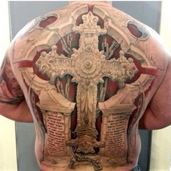Tattoo 3d cross