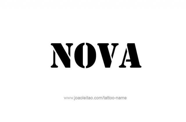 Tattoo design name nova 14