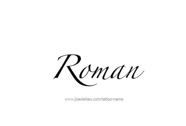 Tattoo design name roman 14
