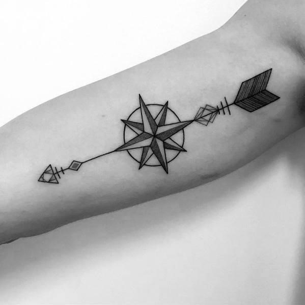 Tattoo designs simple compass