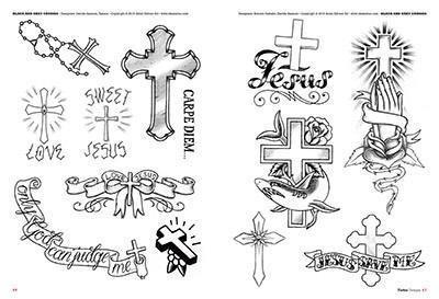 Tattoo drawing flash 2 cross tatouage croix