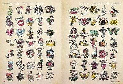 Tattoo flash 7 old school 2 traditional mini small 1