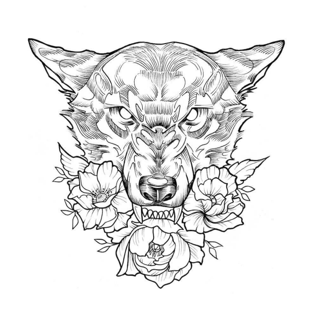 Tattoo flash drawing 43