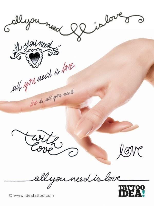 Tattoo font love script beatles 1