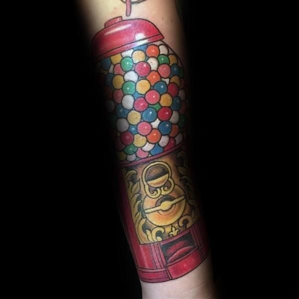 Tattoo ideas candy gumball machine