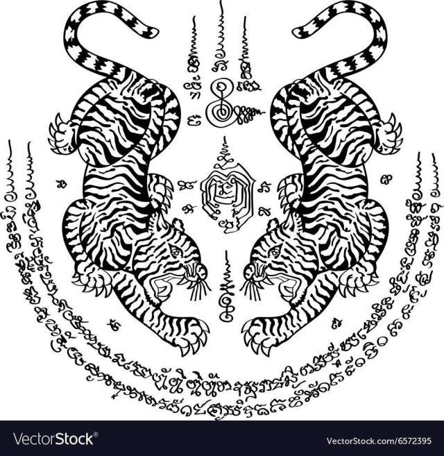 Tattoo thai style 3 vector 6572395