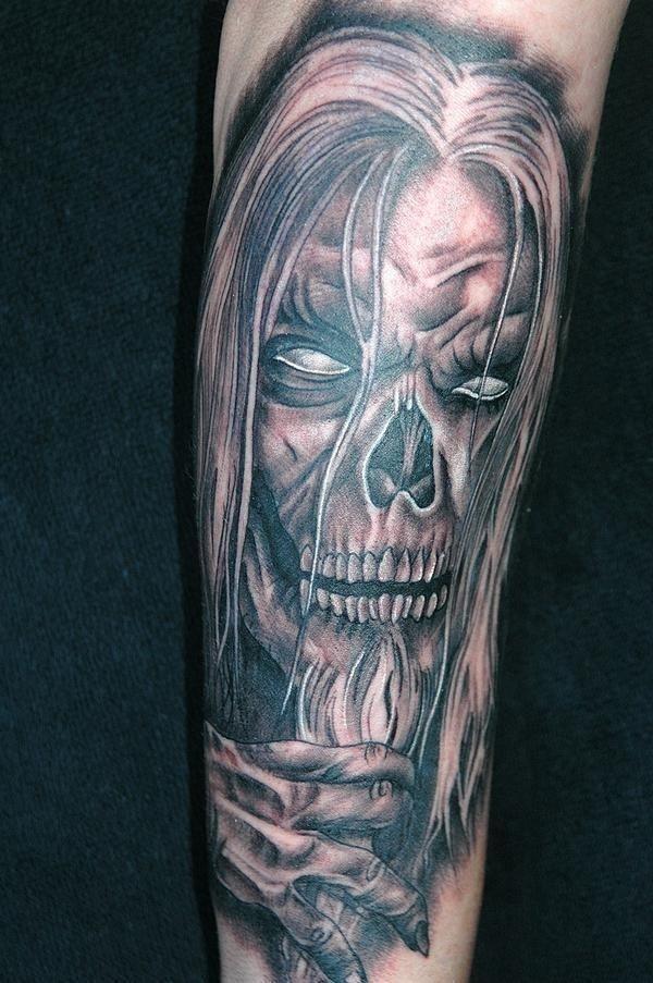 Tattoo trends evil skull tattoos