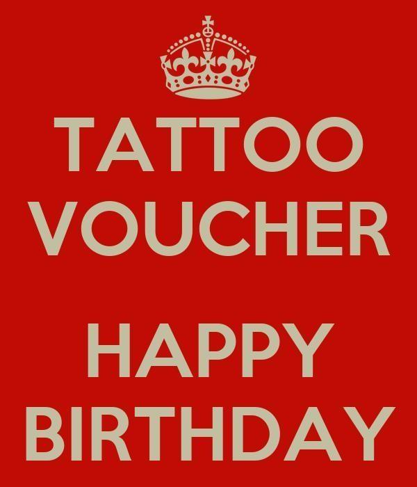 Tattoo voucher happy birthday 2