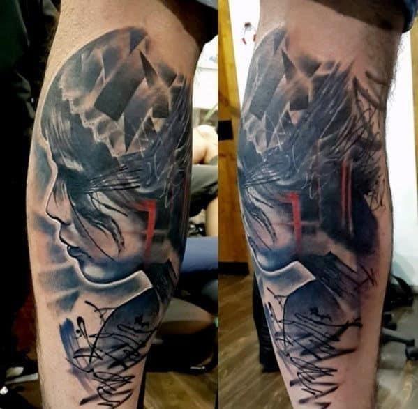 Tattoos for men on leg