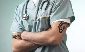 Tattoos on nurse 6