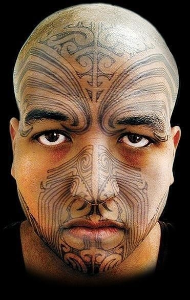 Temporary face tattoos maori full face tattoo 22 grande