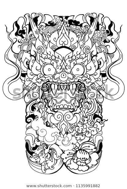 Thai art traditional tattoo designthai 600w 1135991882