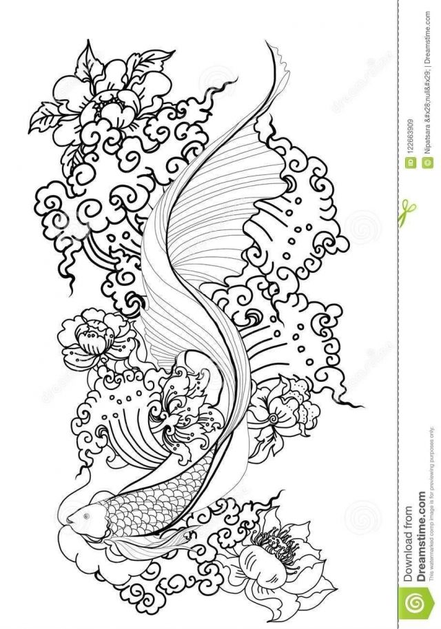 Thai dragon isolate vector tattoo design thai buddhism animal himmapan forest smoke cloud vector thai beta fish 122663909