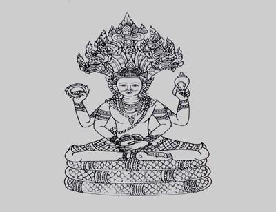 Thai goddess Tattoo Stencil
