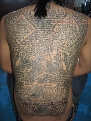 Thai tattoo design on full back