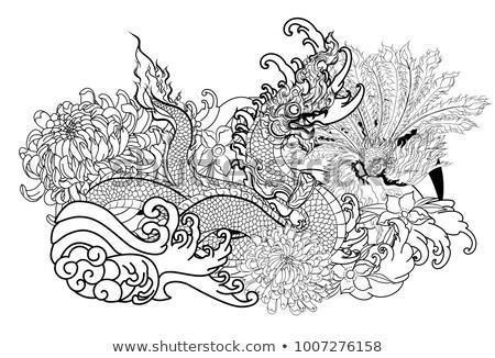 Thai traditional tattoo design naga 450w 1007276158