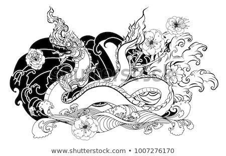 Thai traditional tattoo design naga 450w 1007276170