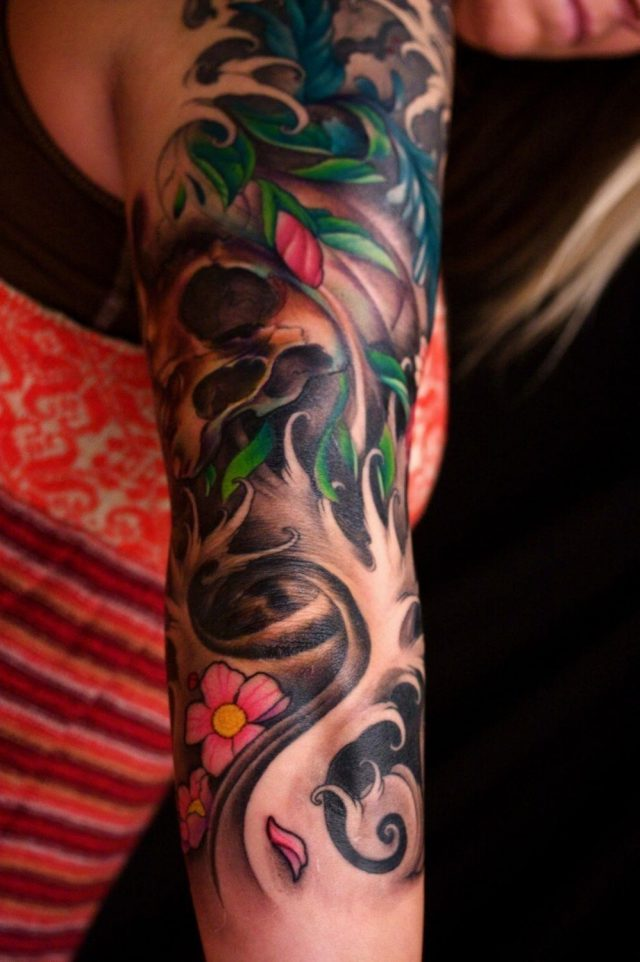 the map tattoo tattoos jeff gogue japanese influenced 34 sleeve o c tattoodonkey