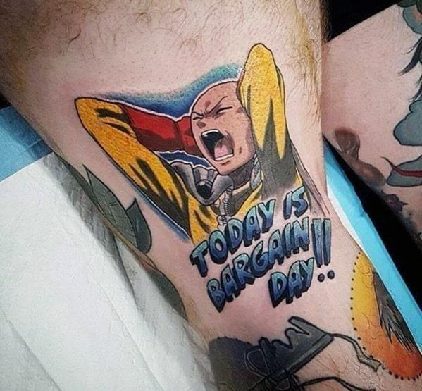 Thigh anime male tattoo designs