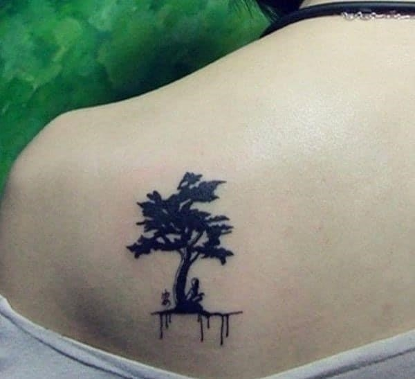 Tiny tree meaningful tattoos