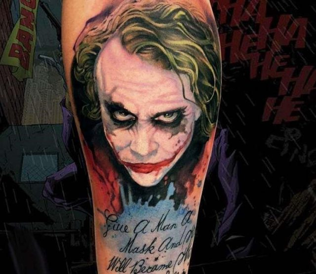 Top 77 joker tattoos   006