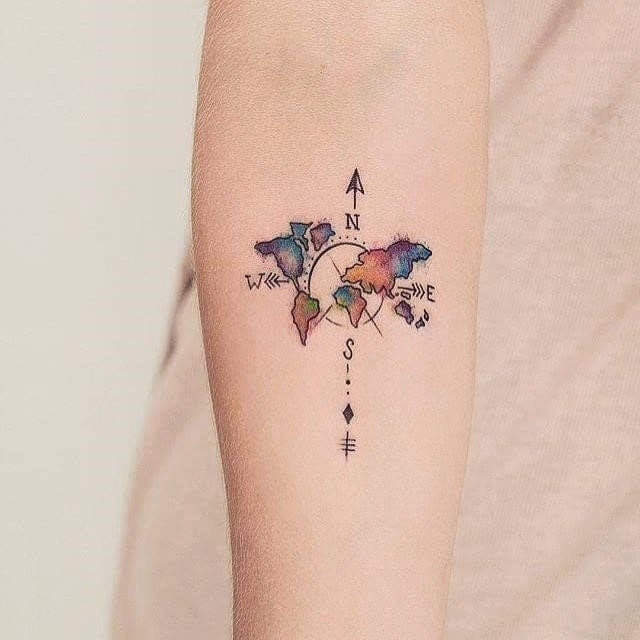 Traveltattoo worldmaptattoo traveltattoos tattoo tattoos cutetattoo