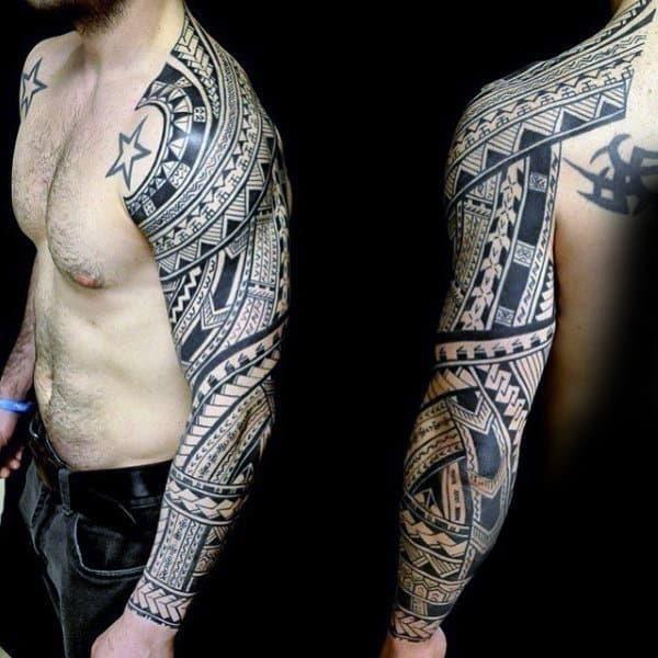 Tribal tattoo guys sleeve designs