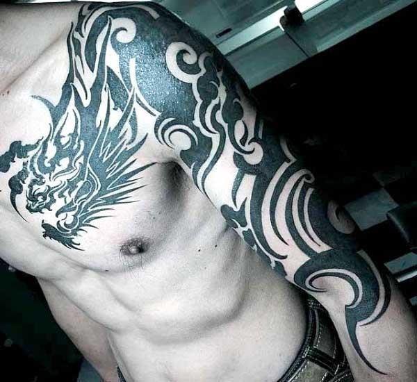Tribal dragon tattoo 2 1