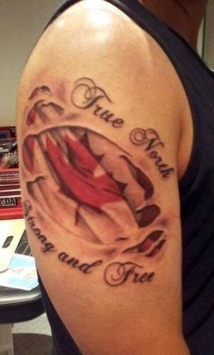 True north strong and free canadian tattoo cropped 302×500
