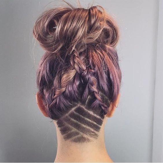 Undercut hair tattoo