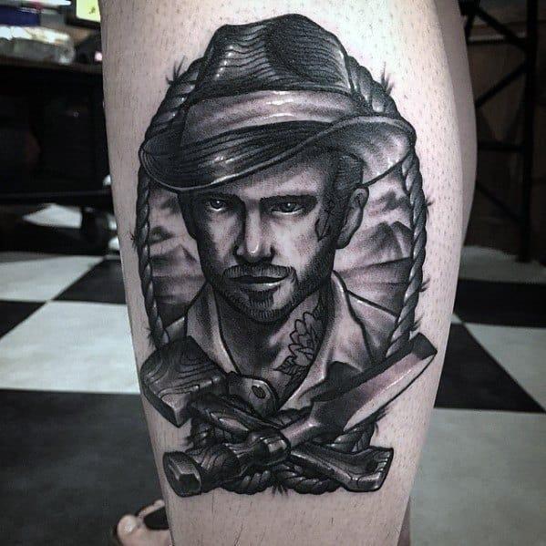 Unique carpenter tattoos for men