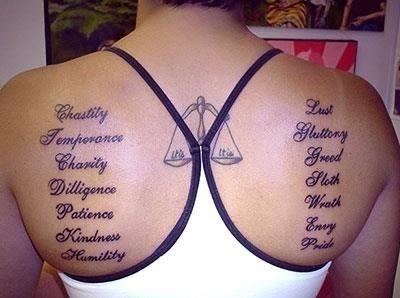 Unique libra tattoos