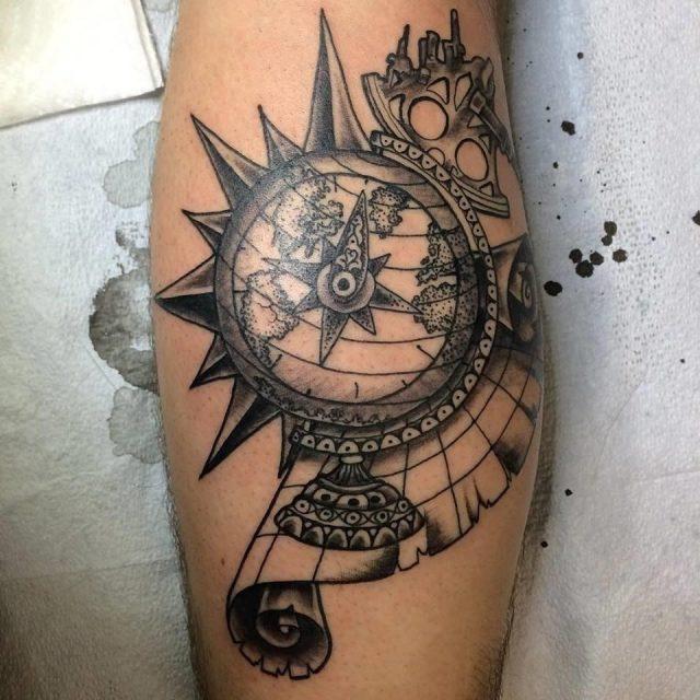 Wanderlust travel tattoo