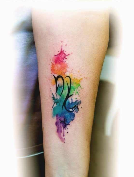 Watercolor scorpion tattoo 11