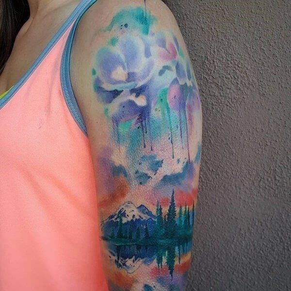 Watercolor tattoo 21