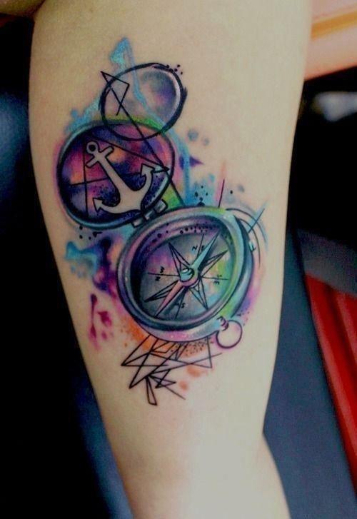 Watercolor tattoos 23