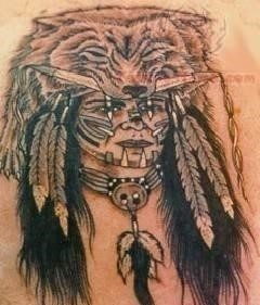 Wild women native american tattoo