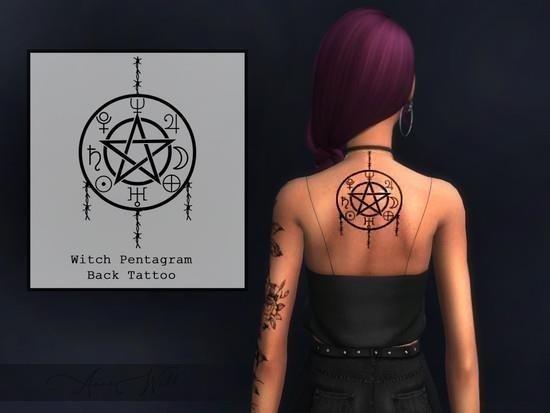 Witch pentagram back tattoo 5d888a48db51c