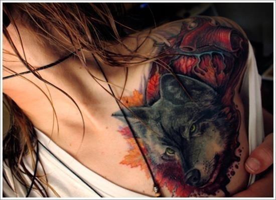 Wolf tattoo designs 14