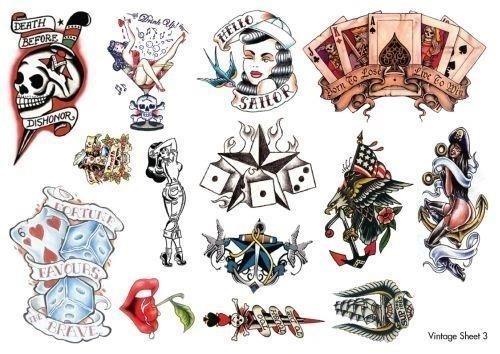 Wonderful vintage tattoos designs