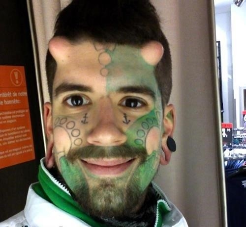 Worst face tattoos 10