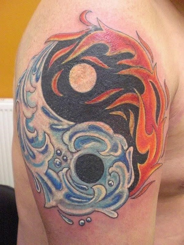 Yin and yang tattoo designs 12
