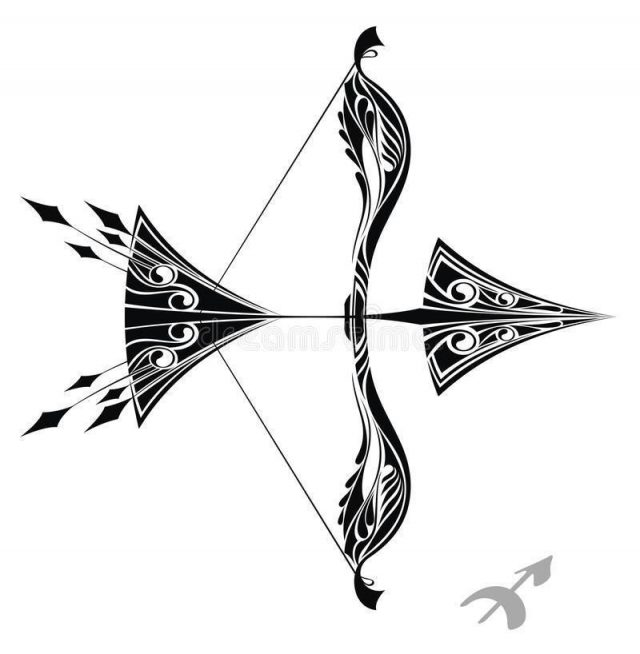 Zodiac sign sagittarius tattoo design 21812702